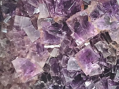 Fluorite with Bartye and Quartz