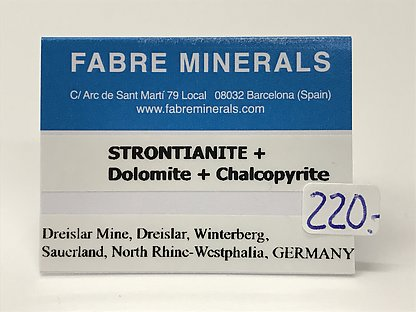 Strontianite with Dolomite and Calcite
