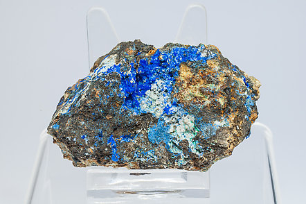 Linarite with Cerussite, Brochantite and Quartz