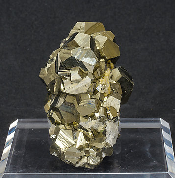 Pyrite with Sphalerite and Calcite