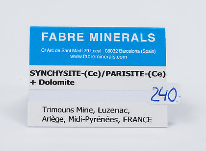 Synchysite-(Ce)/Parisite-(Ce) with Dolomite and Talc