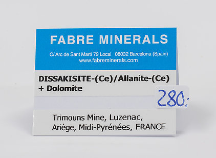 Dissakisite-(Ce)/Allanite-(Ce) with Dolomite