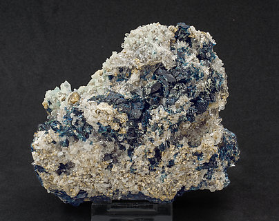 Lazulite with Augelite, Quartz and Siderite