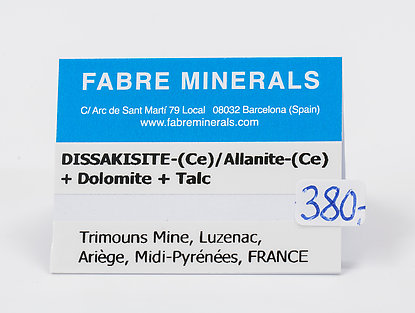 Dissakisite-(Ce)/Allanite-(Ce) with Dolomite and Talc